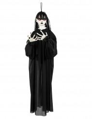 Dekoration hængende uhyggelig pige 90 cm Halloween