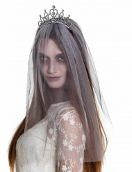 Diadem med brudeslør zombie Halloween