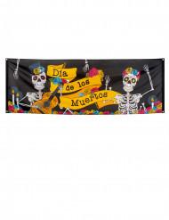 Banner farvet 74 x 220 cm Dia de los Muertos