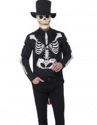 Et smart Dia de los Muertos skelet til mænd