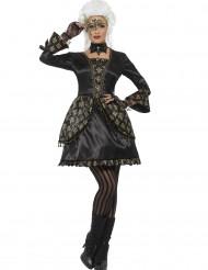 Kostume barok kvinde i sort og guld