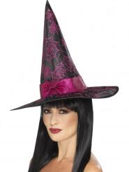 Heksehat i sort og rosa Halloween