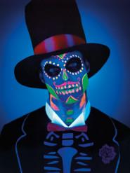 Dia de los muertos selvlysende sminke til Halloween