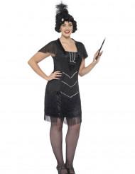 Kostume Charleston sorte frynser til kvinder