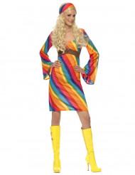 Kostume regnbue hippie til kvinder
