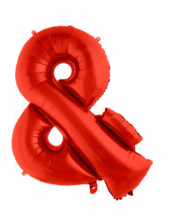 Ballon aluminium gigant og rød 102 cm