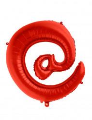 Ballon aluminium gigant symbol snabel a rød 70 cm