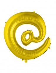 Ballon aluminium gigant symbol guld 70 cm