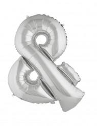 Ballon aluminium gigant symbol ogsølv 80 cm