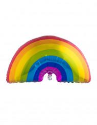 Ballon aluminium regnbue 60x95 cm