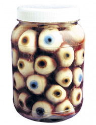 Glas med øjne Halloween 14 cm