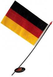 Tysk flag 14 x 9 cm