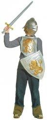 Ridder sæt grå og guld til børn