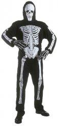 Kostume skelet sort Halloween