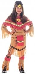 Kostume indianer i brun og rød til piger
