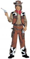 Kostume cowboy i brun til drenge