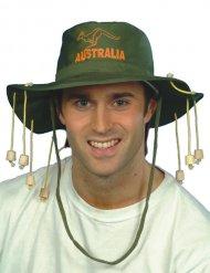 Safari hat grøn og orange til voksne