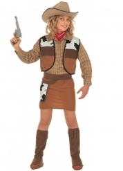 Kostume cow-girl brun til piger
