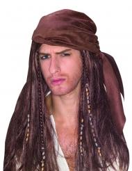 Paryk pirat med bandana mand brun