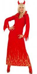 Flammende djævel kostume kvinde