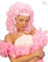 Paryk lyserød prinsesse med lille diadem