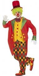 Kostume multifarvet klovn til mænd