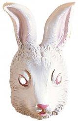 Hvid kanin maske voksen