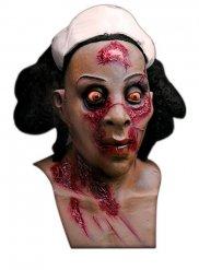 Zombie sygeplejerske maske til voksne