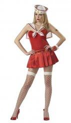 Kostume marine rød kvinde