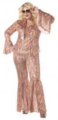 Disko kostume flerfarvet stor størrelse kvinde