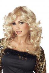 Paryk disco blond til kvinder