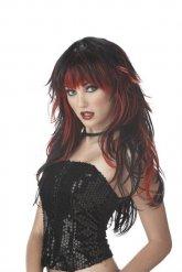 Paryk gotisk sort og rød