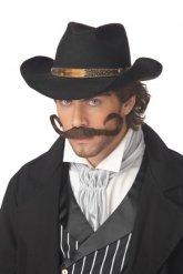 Cowboy overskæg - brun