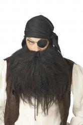 Pirat skæg sort