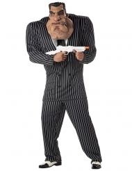 Gangster jakkesæt sort og hvid - mand
