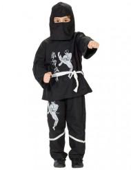 Kostume ninja til børn sort og hvid