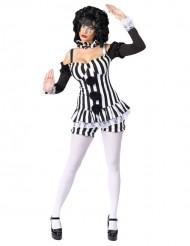 Sexet klovne kostume sort-hvid