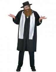 Rabbiner kostume med skæg - mand