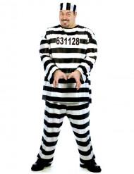 Fangerkostume til mænd i store størrelser