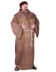 munk kostume med paryk - mand
