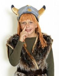 Hjelm viking i velour til børn
