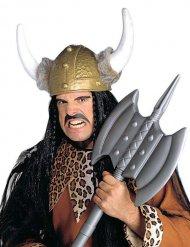 Hjelm viking med imiteret pels til voksne