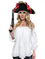 Skjorte pirat hvid middelalder til kvinder