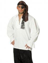T-shirt pirat hvid til mænd