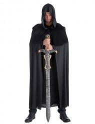 Kappe sort ridderkappe til voksne