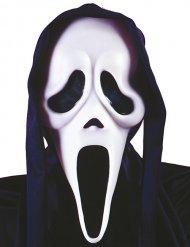 Sort og hvid spøgelsesmaske