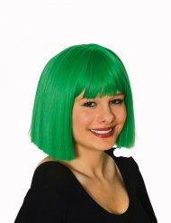 Paryk pageklippet grøn til kvinder