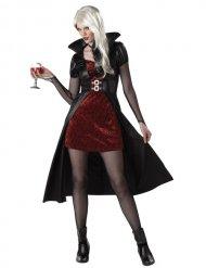 Kostume vampyr rødt til kvinder Halloween