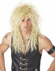Blond rockstar paryk til voksne