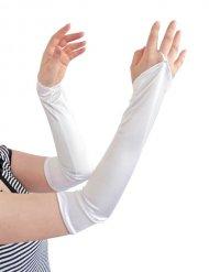 Lange hvide handsker til kvinder